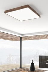 WoodLEd Slope square ceiling lamp in oak 60cm. Trilum.