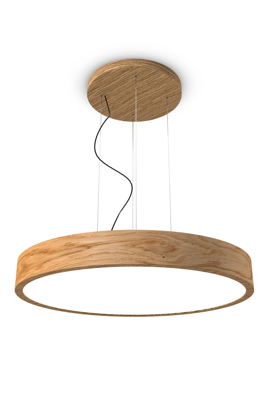Woodled Round Oak Pendant 90cm Trilum
