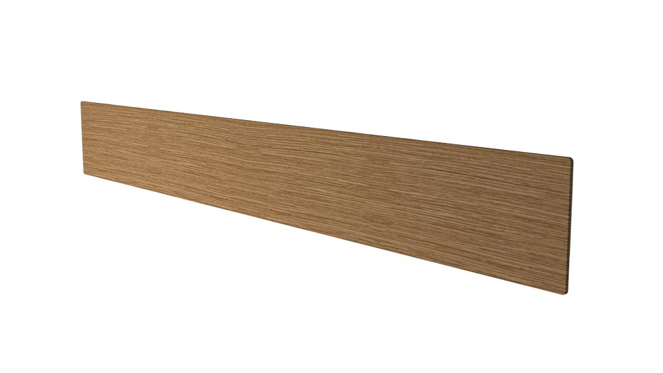 Liiny large and rectangular wall lamp in oak wood128cm. Trilum.