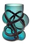 Vase Xtreme en verre soufflé bleu canard . Vanessa Mitrani.