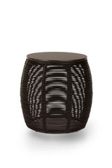 Ivo end table in black rattan. Vincent Sheppard.