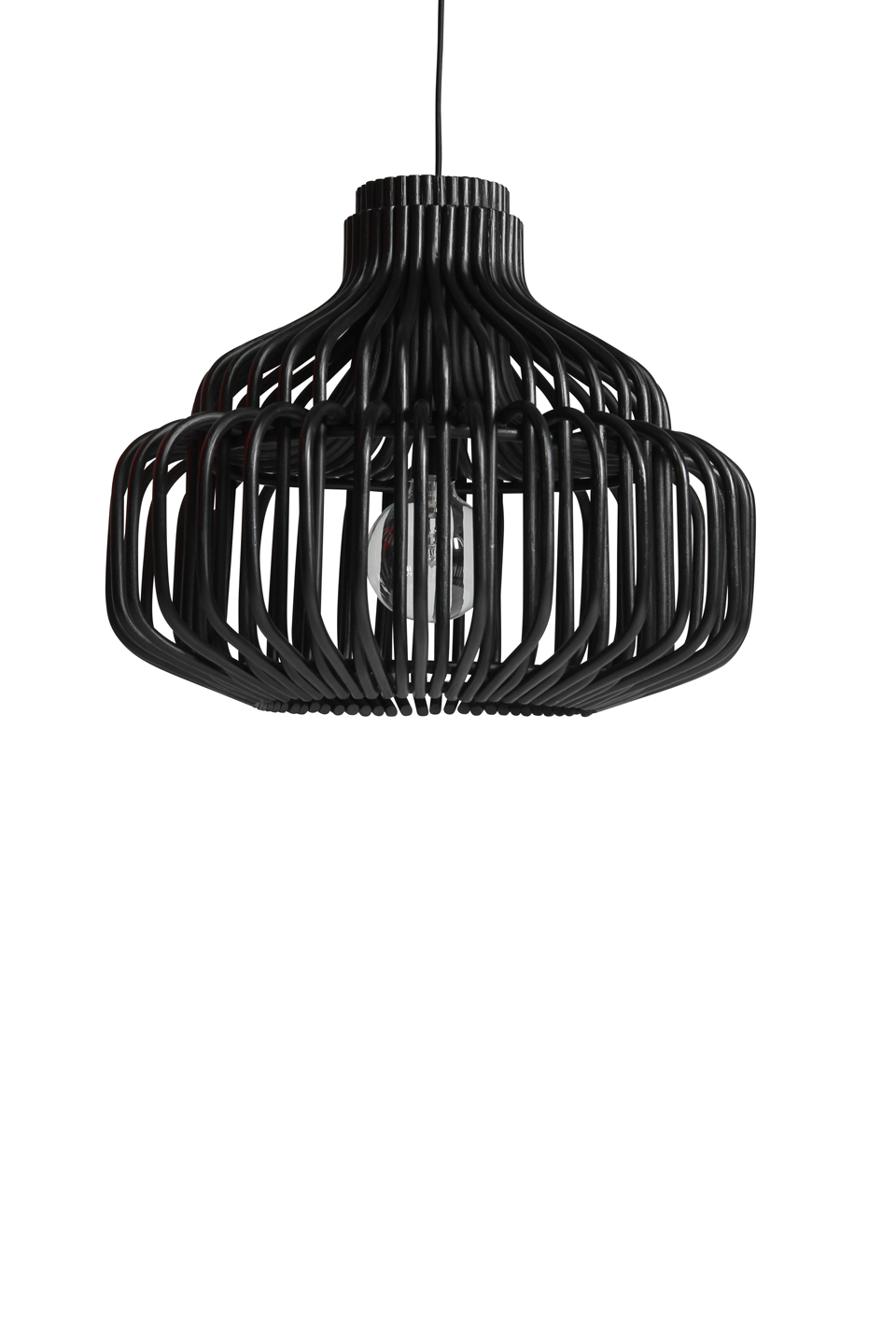 Image of: Endless Pendant Lamp In Black Rattan Vincent Sheppard Contemporary Design Lighting Ref 18110053