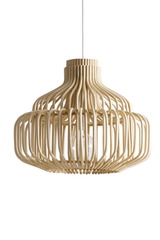 Endless natural rattan pendant lamp. Vincent Sheppard.