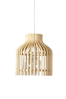 Mini Firefly pendant lamp in natural rattan. Vincent Sheppard.