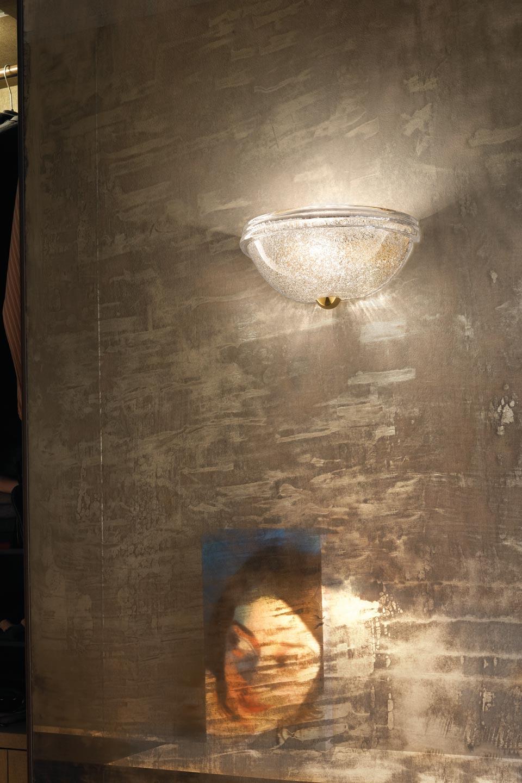 Applique Accademia en cristal de Murano soufflé bouche . Vistosi.