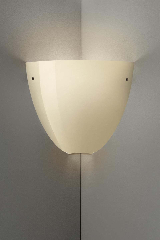 Applique Corner en cristal de Murano soufflé bouche sable brillant. Vistosi.