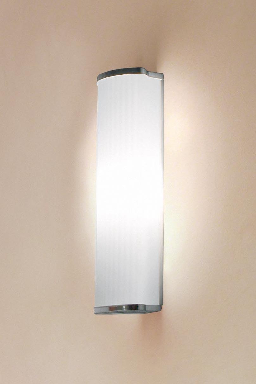 Applique en verre de Murano dépoli cannelé Luxor - verre blanc 30cm. Vistosi.