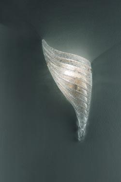 Applique Giglio en cristal de Murano  modèle gauche. Vistosi.