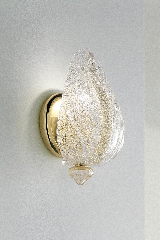 Applique  Morrise en verre de Murano moulé  et incrusté d