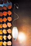 Baco applique en cristal de Murano suspendue à potence. Vistosi.