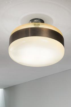premium selection e87ad 30582 Two-tone ceiling light in Murano glass and antique brass