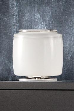 Lampe cylindre en verre de Murano dépoli Bot 16cm. Vistosi.