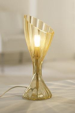 Lampe de table Comari en cristal de Murano soufflé bouche 58cm. Vistosi.
