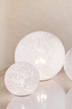 Lampe en murrine de verre blanc soufflé Rina LT35. Vistosi.