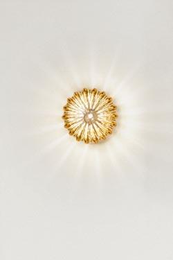 Petite applique Diamante en cristal de Murano ambre. Vistosi.