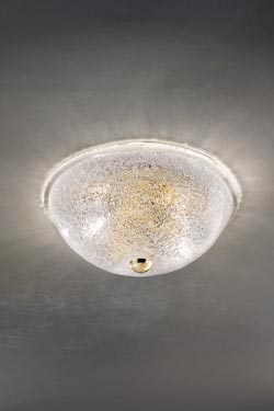 Plafonnier Accademia en cristal de Murano soufflé bouche. Vistosi.