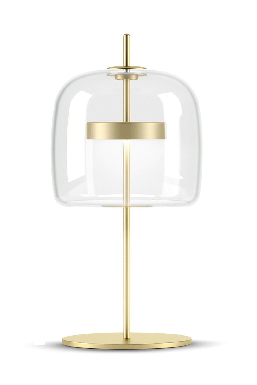 Jube Small Table Lamp Clear Glass Vistosi Murano Blown Glass Lighting Ref 20020012