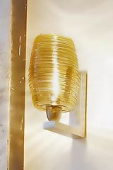 Murano glass wall lamp with amber glass wire - Damasco Collection. Vistosi.