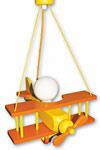 Avion orange et jaune PM suspension . Waldi Leuchten.