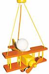 Avion orange et jaune XXL suspension . Waldi Leuchten.