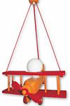 Avion orange  et rouge PM suspension . Waldi Leuchten.
