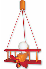 Avion orange et rouge PM suspension . Waldi Leuchten.