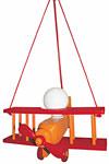Avion orange  et rouge XXL suspension . Waldi Leuchten.