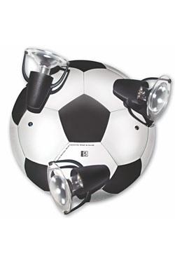 ballon de foot noir et blanc plafonnier 3 lumi re par waldi leuchten r f 11020437. Black Bedroom Furniture Sets. Home Design Ideas