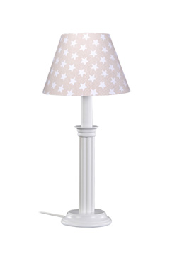 Lampe De Chevet En Bois Laque Blanc Et Abat Jour Conique Applique Et Suspension Assorties