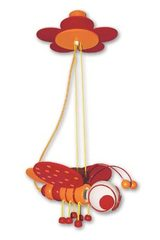 Libellule orange et rouge suspension. Waldi Leuchten.