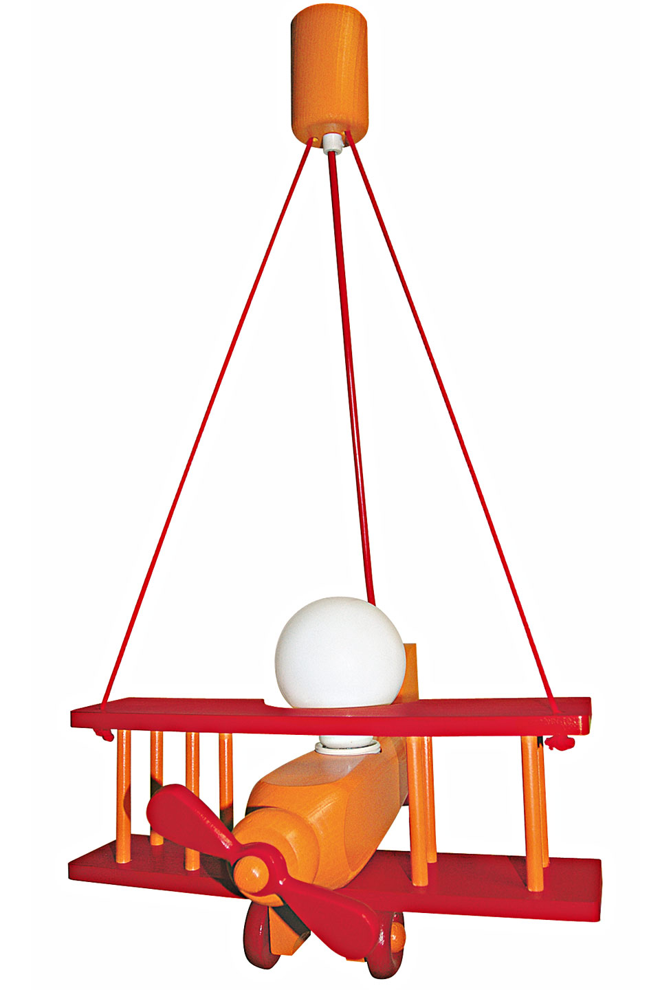 Avion orange et rouge xxl suspension par waldi leuchten for Luminaire suspension rouge