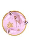 Plafonnier rose imprimé Bambi 3 spots . Waldi Leuchten.