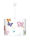 Suspension Papillons brodés multicolores. Waldi Leuchten.